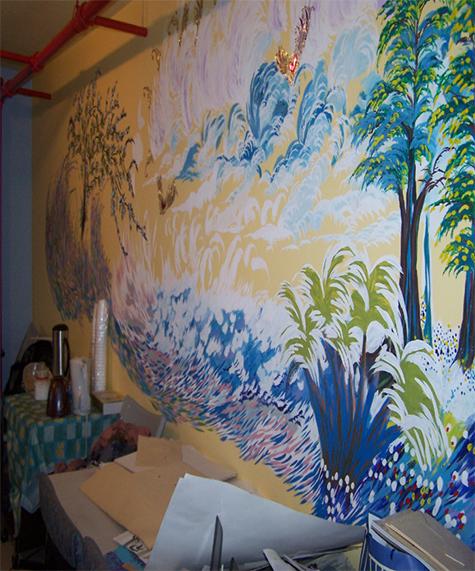 Projet d'épinglettes d'art et murale réalisés au Drop-in-Centre Maison Benoît Labre